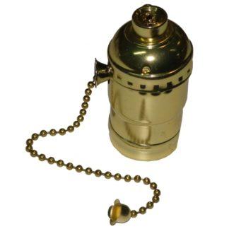 Ντουί Vintage Ε27 μεταλλικό διακοπτάκι αλυσίδα χρυσό