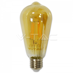 Λαμπτήρας LED E27 ST64 4W Amber Glass 4361