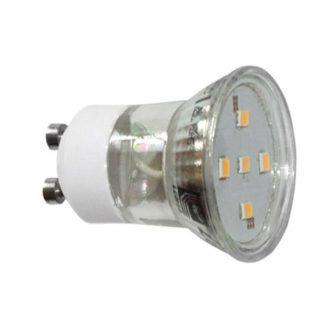 Λάμπα led GU10 2W 230V 6200k ψυχρό λευκό φως δέσμης 105° 220 lumen Ø35mm