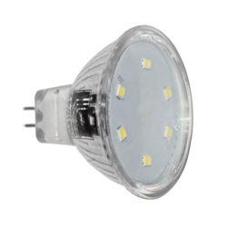 Λάμπα led MR11 2W 12V AC/DC 3000k θερμό λευκό φως δέσμης 105° 200 lumen Ø35mm