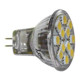 Λάμπα led MR11 2W 12V AC/DC 6200k ψυχρό λευκό φως δέσμης 105° 220 lumen Ø35mm