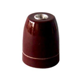Διακοσμητικό ντουί Vintage E27 καφέ πορσελάνης