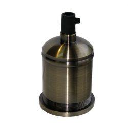 Διακοσμητικό ντουί Vintage E27 καφέ χακί πατίνα πατίνα αλουμινίου με ροδέλα & εσωτερικό πλαστικό
