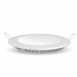 LED Πάνελ mini V-TAC premium 18W 1500lm στρογγυλό Φως Ημέρας