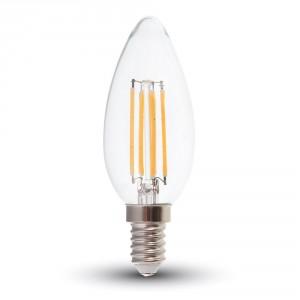 ΛΑΜΠΑ LED E14 4W ΚΕΡΙ ΘΕΡΜΟ ΛΕΥΚΟ FILAMENT DIMMABLE V-TAC4365