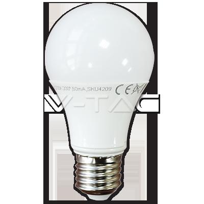ΛΑΜΠΑ LED E27 7W A60 ΘΕΡΜΟ ΛΕΥΚΟ V-TAC4376