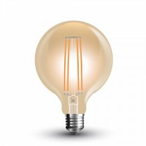 ΛΑΜΠΑ LED E27 G95 7W ΘΕΡΜΟ ΛΕΥΚΟ AMBER COVER V-TAC7147