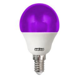 Λάμπα led P45 σφαιρική Ε14 1.8W 230V μωβ φως δέσμης 160° enjoy simplisity 15000h