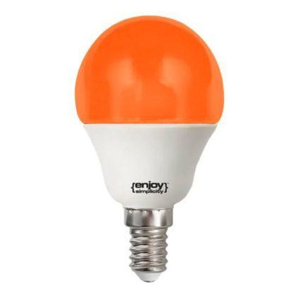Λάμπα led P45 σφαιρική Ε14 1.8W 230V πορτοκαλί φως δέσμης 160° enjoy simplisity 15000h