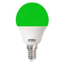 Λάμπα led P45 σφαιρική Ε14 1.8W 230V πράσινο φως δέσμης 160° enjoy simplisity 15000h