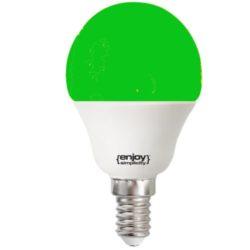 Λάμπα led P45 σφαιρική Ε14 1.8W 230V πράσινο φως