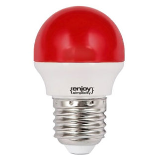 Λάμπα led P45 σφαιρική Ε27 1.8W 230V κόκκινο φως δέσμης 160° enjoy simplisity 15000h