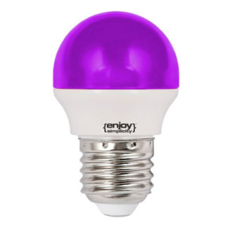 Λάμπα led P45 σφαιρική Ε27 1.8W 230V μωβ φως δέσμης 160° enjoy simplisity 15000h