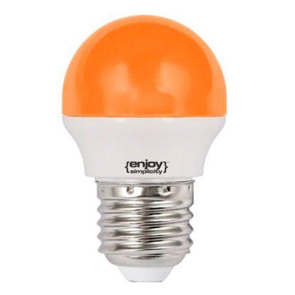 Λάμπα led P45 σφαιρική Ε27 1.8W 230V πορτοκαλί φως δέσμης 160° enjoy simplisity 15000h