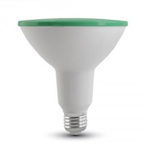 Λάμπα led v-tac par38 (κήπου) E27 15 watt 180-240v δέσμης 30° 1200lumen Πράσινο φώς στεγανή ip65 ΚΩΔ : 4418