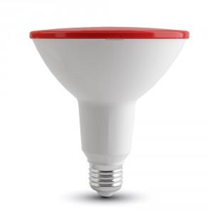 Λάμπα led par38 (κήπου) E27 15 watt 180-240v δέσμης 30° 1200lumen κόκκινο φώς στεγανή ip65 V-TAC4419