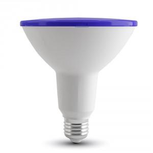 Λάμπα led v-tac par38 (κήπου) E27 15 watt 180-240v δέσμης 30° 1200lumen μπλέ φώς στεγανή ip65 ΚΩΔ : 4420