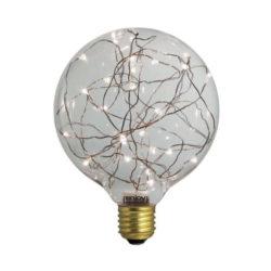 Διακοσμητική λάμπα led Dream Stars 6500k ψυχρό λευκό φως 30lm E27 1,5W 230V Globe Ø125mm