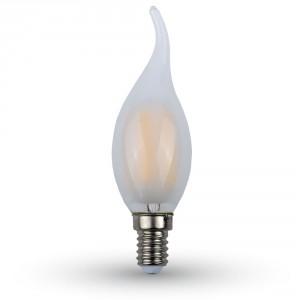 ΛΑΜΠΑ LED E14 ΚΕΡΙ ΦΛΟΓΑ 4W ΘΕΡΜΟ ΛΕΥΚΟ WHITE COVER V-TAC7104