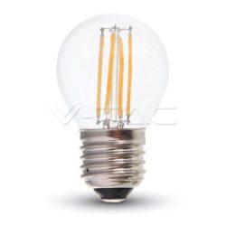 ΛΑΜΠΑ LED E27 4W G45 ΘΕΡΜΟ ΛΕΥΚΟ FILAMENT DIMMABLE V-TAC4395