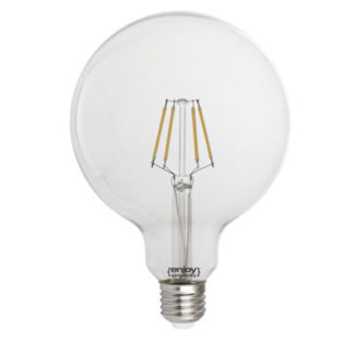Λάμπα led dream fillament E27 G125 4W 230V κίτρινο φως