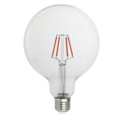 Λάμπα led dream fillament E27 G125 4W 230V κόκκινο φως
