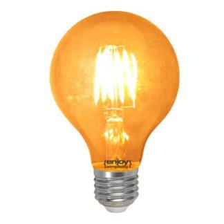 Λάμπα led dream fillament E27 G80 4W 230V κίτρινο φως