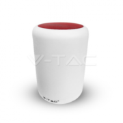V-TAC Επιτραπέζιο φωτιστικό LED 5W με Ρύθμιση Φωτισμού 3000Κ + RGB και Ηχείο Bluetooth-KOKKINO