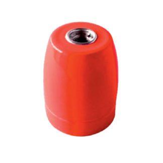 Διακοσμητικό ντουί Vintage E27 κόκκινο πορσελάνης