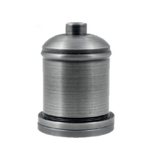 Διακοσμητικό ντουί Vintage E27 νίκελ πατίνα αλουμινίου