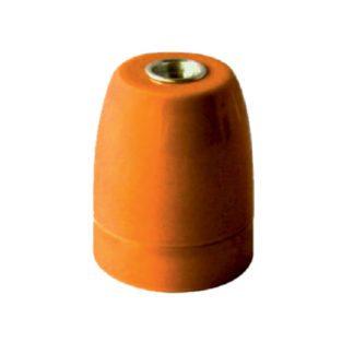 Διακοσμητικό ντουί Vintage E27 πορτοκαλί πορσελάνης
