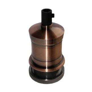 Διακοσμητικό ντουί Σειρά: Vintage Σπείρωμα: E27 Υλικό κατασκευής: αλουμίνιο με εσωτερικό πλαστικό Χρώμα: χαλκός ροζ πατίνα Τάση λειτουργίας: 220-240v Βαθμός στεγανότητας: IP20 μη στεγανό