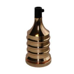 Διακοσμητικό ντουί Vintage E27 χρυσό γυαλιστερό αλουμινίου