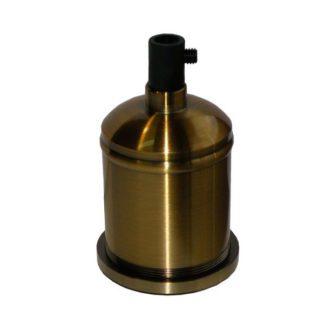 Διακοσμητικό ντουί Vintage E27 χρυσό πατίνα αλουμινίου EL327647