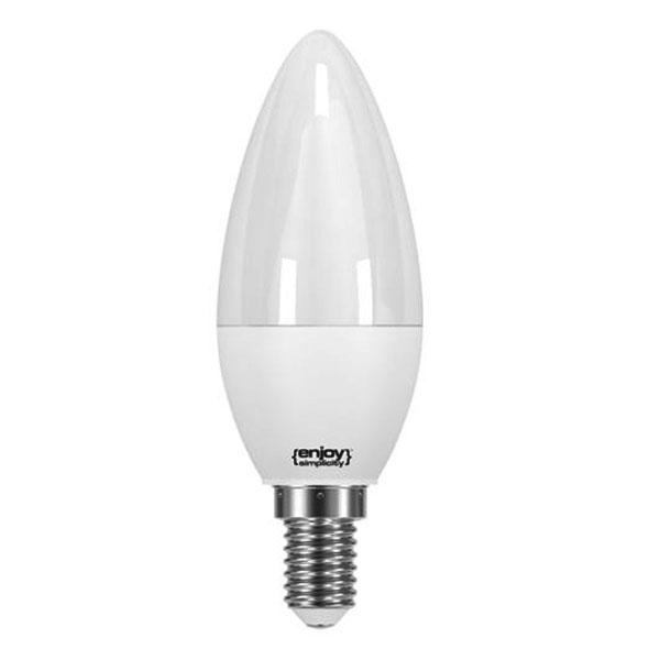 Λάμπα led κεράκι E14 5.5W ψυχρό λευκό φως EL726470