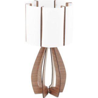 Επιτραπέζιο φωτιστικό COSSANO 94955 λευκό με καφέ ξύλο