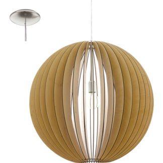 Κρεμαστό φωτιστικό COSSANO 94766 από ξύλο σφενδάμου