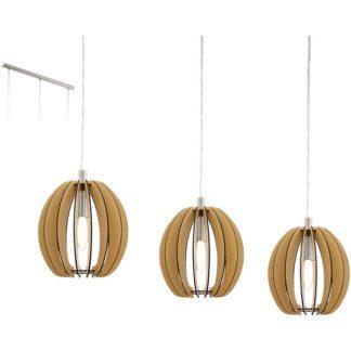 Κρεμαστό φωτιστικό COSSANO 94769 από ξύλο σφενδάμου