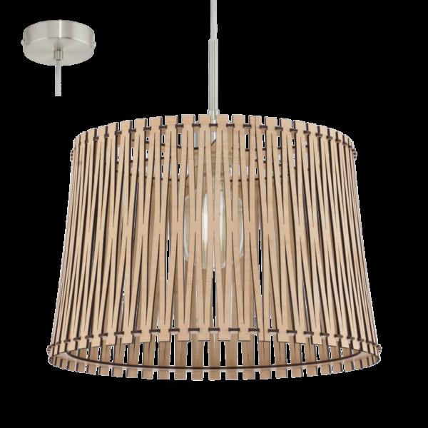 Κρεμαστό φωτιστικό SENDERO 96192 από ξύλο σφενδάμου