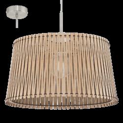 Κρεμαστό φωτιστικό SENDERO 96193 με ξύλο σφενδάμου Φ450