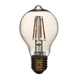 Λάμπα led αχλάδι φιμέ E27 4W ντιμαριζόμενη θερμό λευκό φως