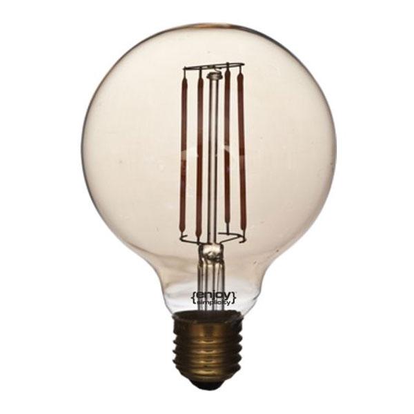 Λάμπα led globe φιμέ G95 E27 5W ντιμαριζόμενη EL829530