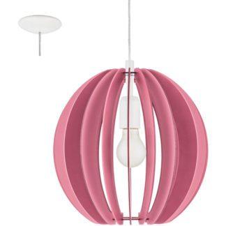 Παιδικό φωτιστικό κρεμαστό μονόφωτο ροζ FABELLA 95953