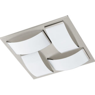Φωτιστικό οροφής-τοίχου μπάνιου WASAO1 94888 τετράφωτη σατινέ νίκελ