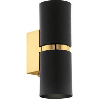 Απλίκα στρόγγυλη δίφωτη PASSA 95364 LED μαύρο & χρυσό