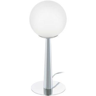 Επιτραπέζιο φωτιστικό BUCCINO 1 95778 χρωμιομένο ατσάλι-λευκό γυαλί οπαλίου