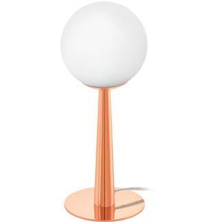 Επιτραπέζιο φωτιστικό BUCCINO 1 95779 χρώμα χαλκού-λευκό γυαλί οπαλίου
