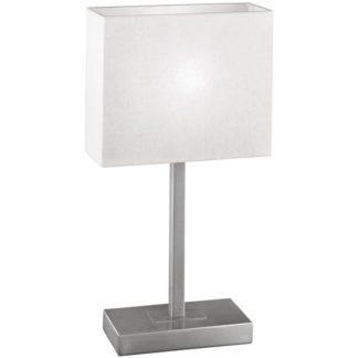 Επιτραπέζιο φωτιστικό PUEBLO 1 87598 ματ νίκελ-μπεζ καπέλο