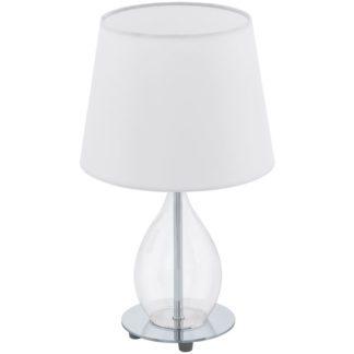 Επιτραπέζιο φωτιστικό RINEIRO 94682 λευκό με γυαλί