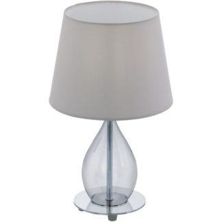 Επιτραπέζιο φωτιστικό RINEIRO 94683 γκρι καπέλο-μαύρο γυαλί
